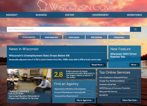 The new homepage for Wisconsin.Gov