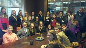 Model UN team at the Chicago Greek Consulate, February 2013