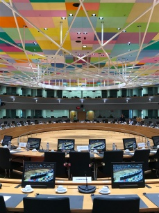 One of the meeting rooms in Europa.